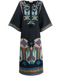 Tory Burch カフタン ドレス - ブルー