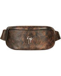 Giuseppe Zanotti Mirto Leather Belt Bag - Brown