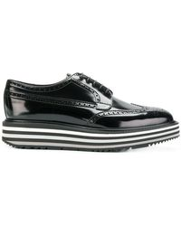 66f4d59f4f0e Lyst - Prada Leather Derby With Platform in Black for Men
