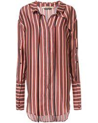 Hellessy - Hutton Striped Silk And Cotton-blend Mini Shirt Dress - Lyst