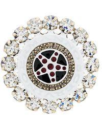Ermanno Scervino - Round Embellished Brooch - Lyst