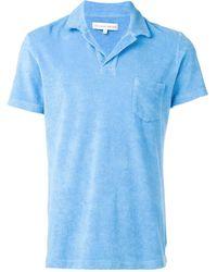 Orlebar Brown フロントポケット ポロシャツ - ブルー