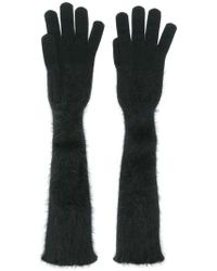 Cruciani Long Knitted Gloves - Black