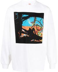 Levi's グラフィック スウェットシャツ - ホワイト