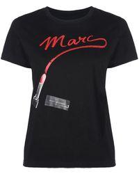 Marc Jacobs ジャージーtシャツ - ブラック