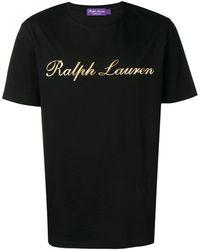 Ralph Lauren Purple Label ロゴ Tシャツ - ブラック