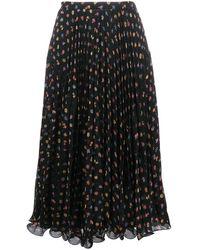 See By Chloé Floral-print A-line Skirt - Black