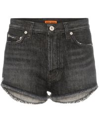 Heron Preston Short en jean - Noir