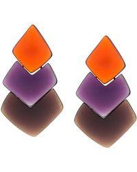 Monies - Layered Drop Earrings - Lyst