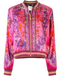 Camilla Tropic Of Neon Bomber Jacket - Pink
