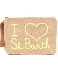Mc2 Saint Barth I Heart St Barth Clutch Bag - Brown
