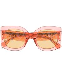 Fendi Gafas de sol con montura oversize - Naranja