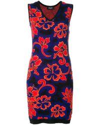 DSquared² - Sleeveless V-neck Floral Dress - Lyst