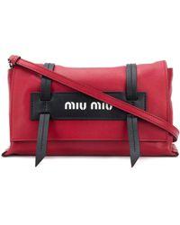 Miu Miu - ロゴ クロスボディバッグ - Lyst