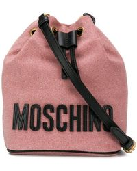 1ce6953ac8f Moschino Crossbody Bag Glitter Nero in Black - Lyst