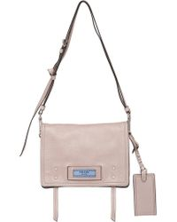 7a4ac9143025 Prada - Etiquette Large Leather Bag - Lyst