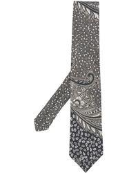 Etro Krawatte mit Paisley-Print - Grau