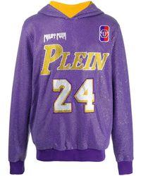 Philipp Plein Декорированное Худи Bball - Пурпурный