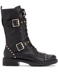 Kurt Geiger Studded Biker Boots - Black