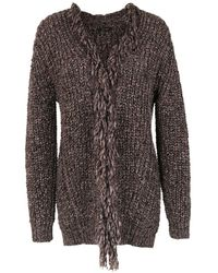 Tufi Duek Knitted Cardigan - Gray