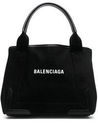 Balenciaga Small Cabas Tote Bag - Black