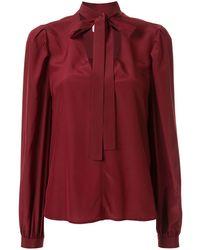 Calvin Klein Блузка С Бантом И V-образным Вырезом - Красный