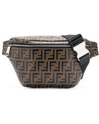 e0ef74362f9a Lyst - Fendi Logo Tartan Belt Bag in Brown for Men