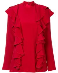 Adam Lippes - Ruffle Front Blouse - Lyst