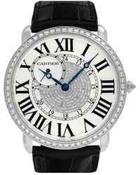 Cartier Reloj Ronde Louis de 42mm 2010 - Negro