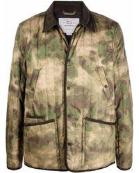 Woolrich カモフラージュ シャツジャケット - グリーン