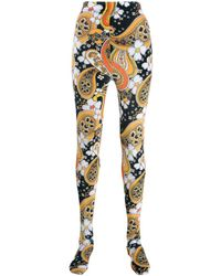 Richard Quinn Paisley Print leggings - Black