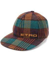 Etro Cappello da baseball tartan - Multicolore