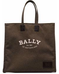 Bally ロゴ トートバッグ - グリーン