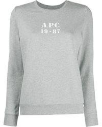A.P.C. Толстовка С Длинными Рукавами И Логотипом - Серый
