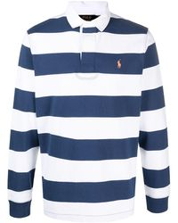 Polo Ralph Lauren Рубашка Поло В Полоску - Синий