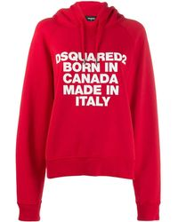 DSquared² Born In Canada Hoodie - Rood