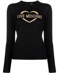 Love Moschino ロゴ プルオーバー - ブラック