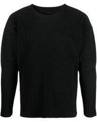 Homme Plissé Issey Miyake リブニット セーター - ブラック