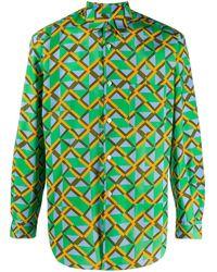 Comme des Garçons - Hemd mit geometrischem Print - Lyst
