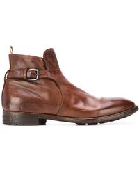 Officine Creative Princeton Buckled Ankle Boots - Brown