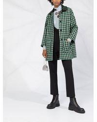 RED Valentino Декорированное Пальто В Клетку - Зеленый