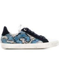 Zadig & Voltaire Zapatillas bajas con efecto pintado - Azul