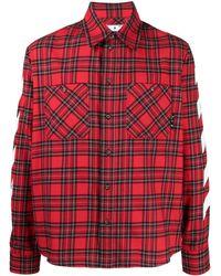 Off-White c/o Virgil Abloh Diag-print Checked Shirt - Red