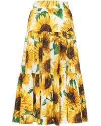 Dolce & Gabbana - フローラルプリント ミディスカート - Lyst