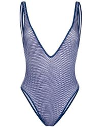 DSquared² - Deep-v Embroidered One-piece - Lyst