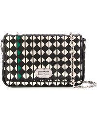 Serapian Mosaico Geometric Crossbody Bag - Black