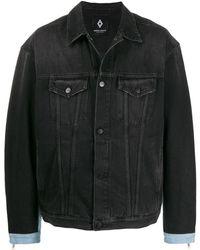 Marcelo Burlon Distressed Denim Jacket - Black