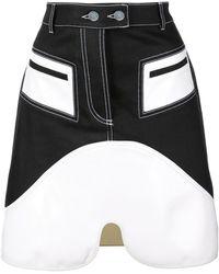 Ellery コントラストパネル スカート - ブラック