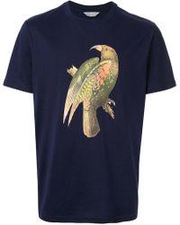 Gieves & Hawkes Bird Print T-shirt - Blue