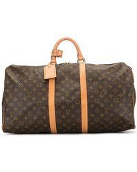 Louis Vuitton 2000 Keepall 55 Holdall - Brown